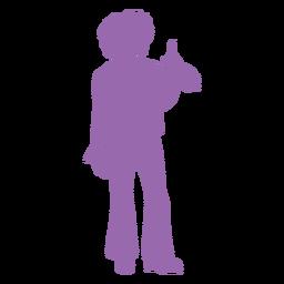 Silueta de movimiento disco púrpura