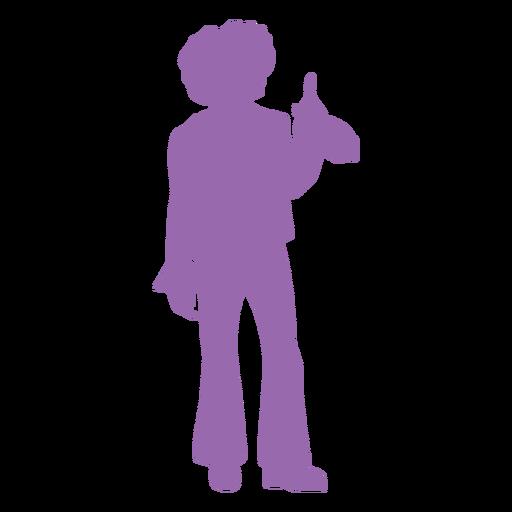 Silhueta de movimento disco roxo Transparent PNG