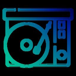 Curso de gradiente de toca-discos