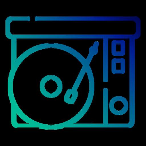 Curso de gradiente de toca-discos Transparent PNG