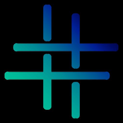 Curso de gradiente de tecla afiada Transparent PNG