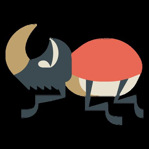 Stag beetle colorful geometric flat