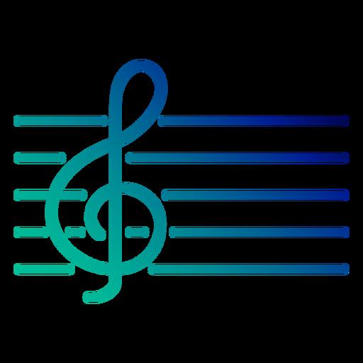 Treble clef gradient stroke