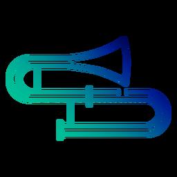 Golpe gradiente de trombón