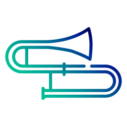 Trombone gradient stroke