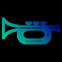 Trumpet gradient stroke