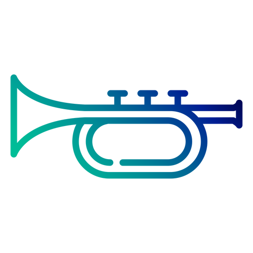 Curso de gradiente de trompete Transparent PNG