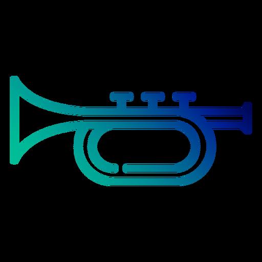 Trumpet gradient stroke Transparent PNG