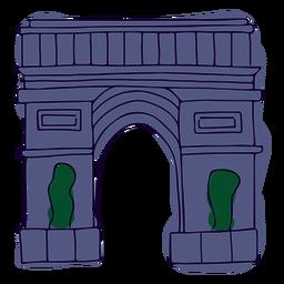 Ilustración de la puerta de la victoria de París
