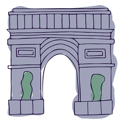 Victory gate paris illustration