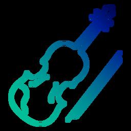 Trazo de gradiente de violín