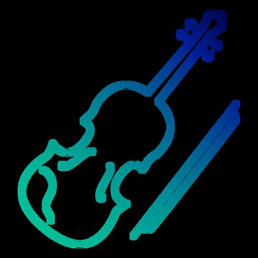Traço gradiente de violino Transparent PNG