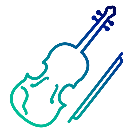 Violin gradient stroke Transparent PNG