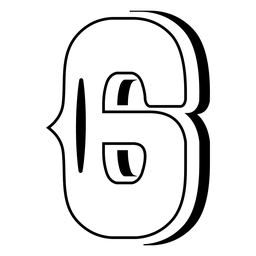Western abc number 6 stroke