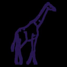 Mão de girafa animal selvagem desenhada