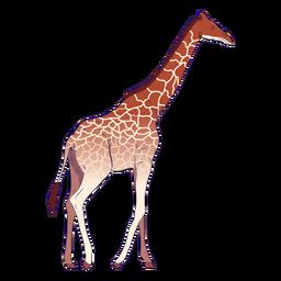 Girafa animal selvagem desenhada à mão colorida