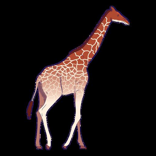 Dibujado a mano animal salvaje jirafa colorido