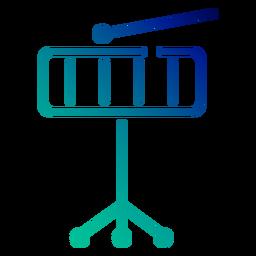 Icono de trazo degradado de xilófono