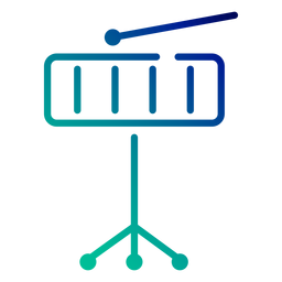 Xylophone gradient stroke icon