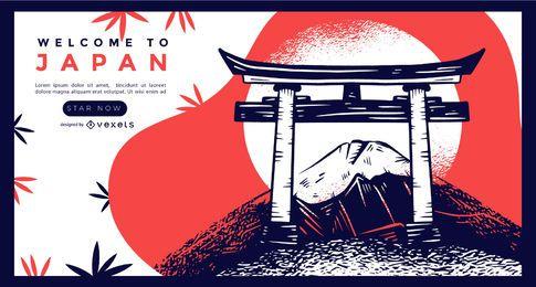Bienvenido a la plantilla de página de destino de Japón
