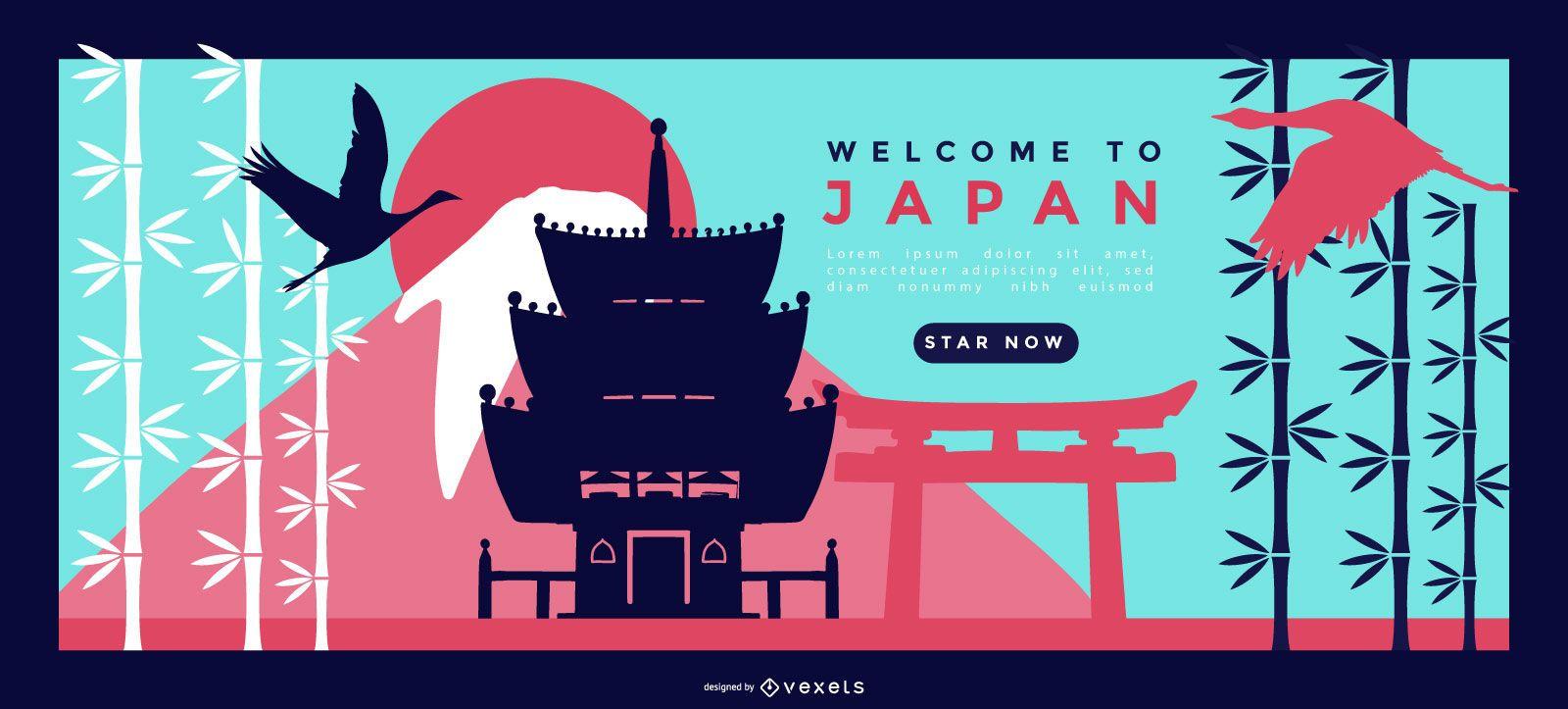 Diseño de página de destino de Japón