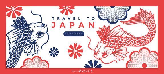 Plantilla de página de destino de naturaleza de Japón