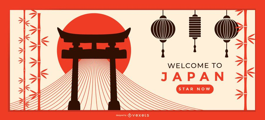 Welcome Japan Landing Page Template