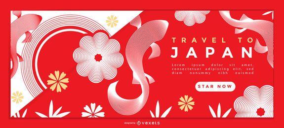 Design de página de destino de viagens no Japão
