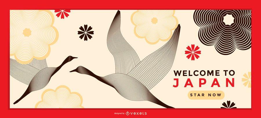 Plantilla de página de destino de diseño de Japón