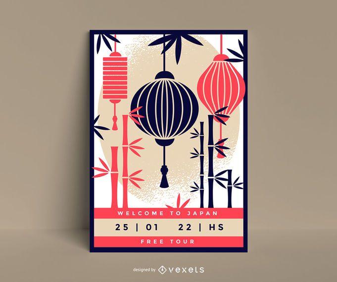 Japan poster template