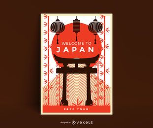 Welcome to japan poster template