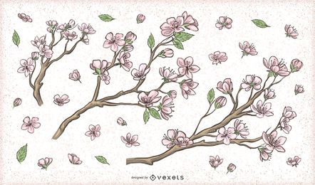 Cherry Blossom Flower Tree Branch Designs