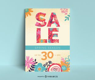 Spring Sale Plakat Vorlage
