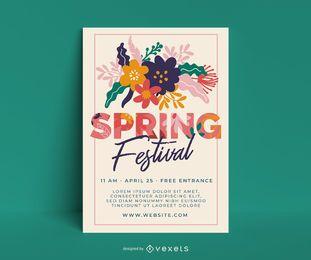Plantilla de cartel de festival de primavera