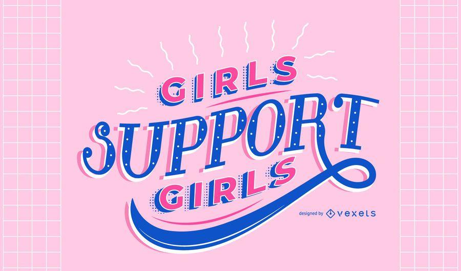 Día de la mujer niñas apoyan letras