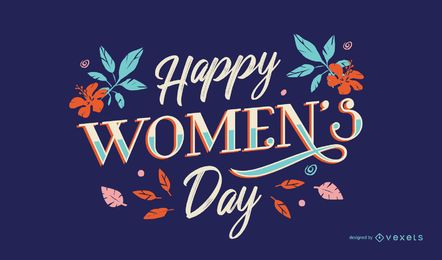 Happy women's day lettering
