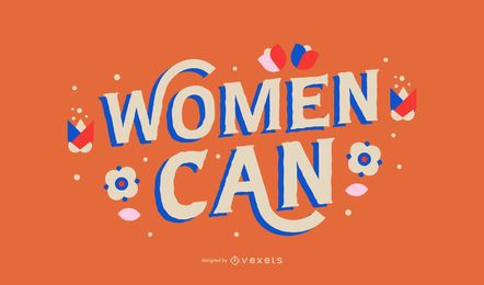Women can lettering design