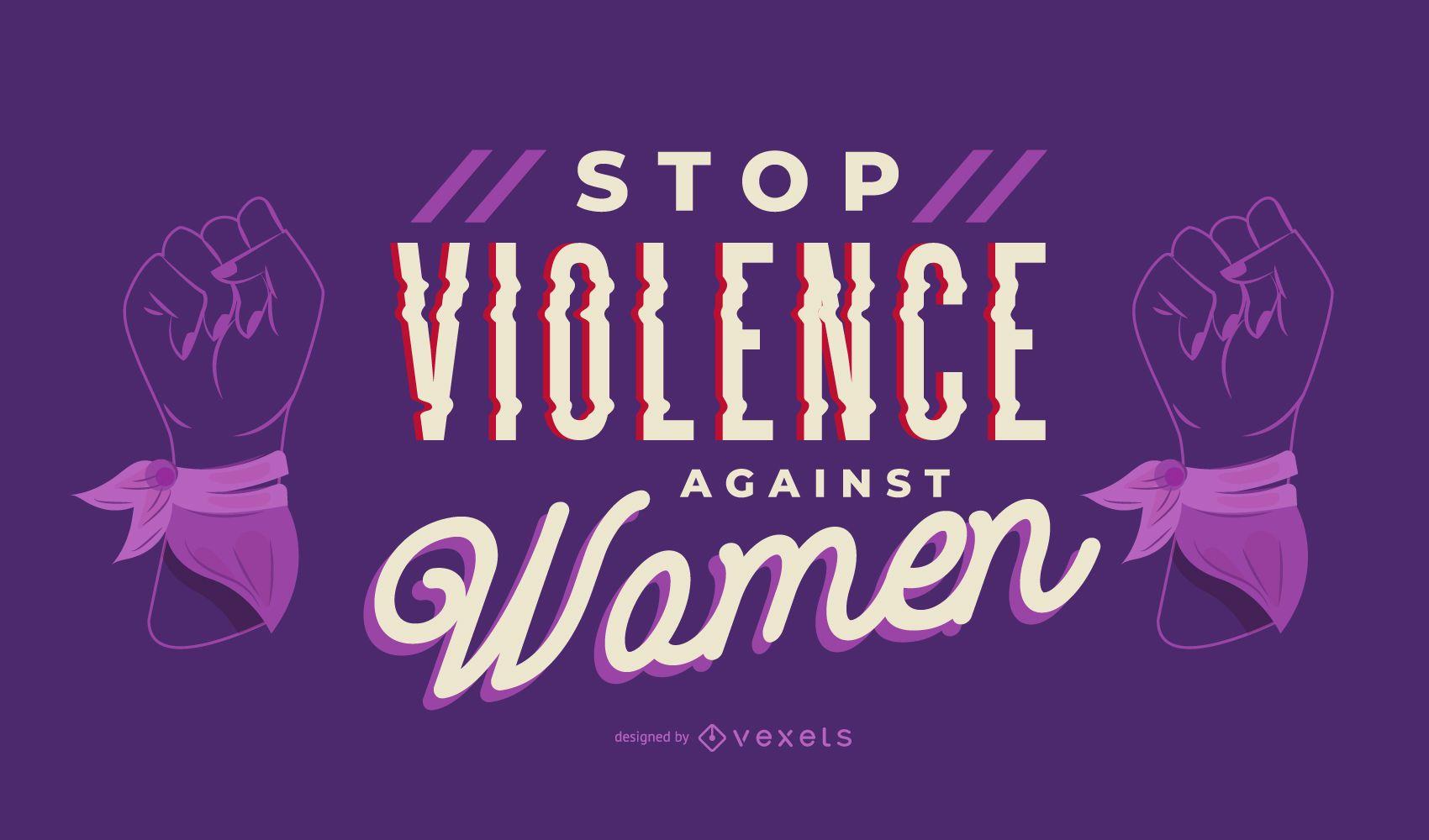 Detener la violencia Letras del día de la mujer