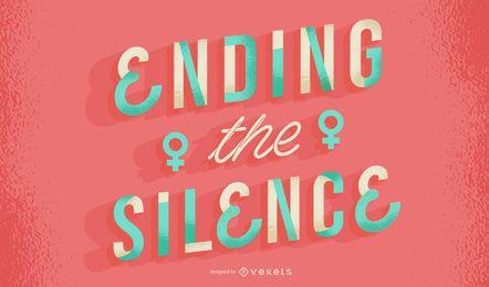 Poner fin al silencio letras del día de la mujer