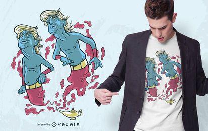 Design do t-shirt do gênio do trunfo