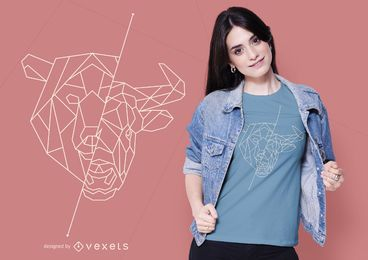 Geometric Bear Bull T-shirt Design