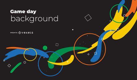 Abstrakter Hintergrund der Olympischen Spiele 2020 in Tokio