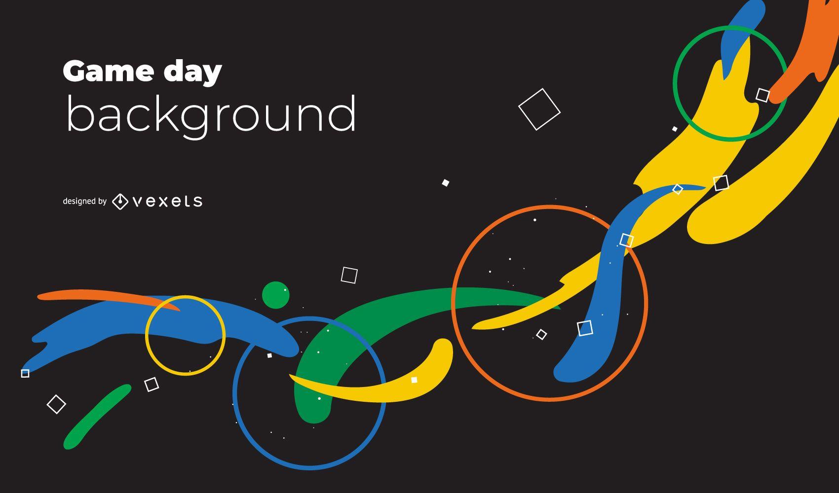 Fundo abstrato dos Jogos Olímpicos de Tóquio 2020