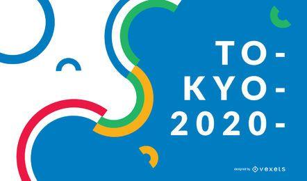 Diseño de fondo de Tokio 2020