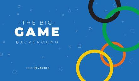 Diseño de fondo de los Juegos Olímpicos de Tokio 2020