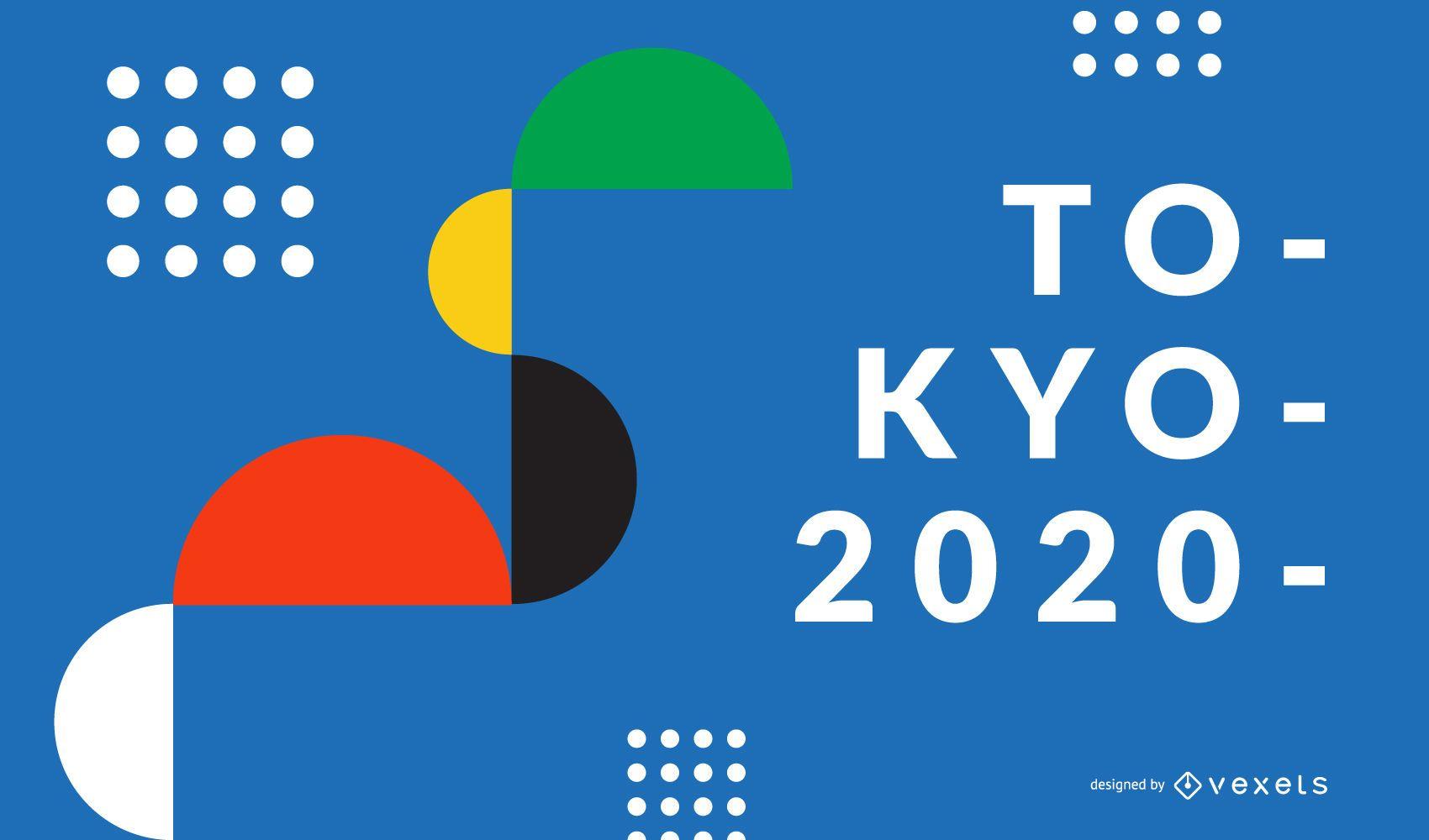 Geometric Shapes Tokyo 2020 Background