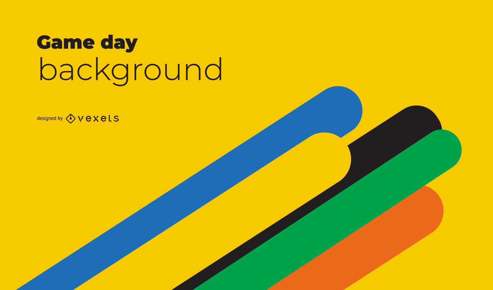 Tokyo 2020 Yellow Background Design