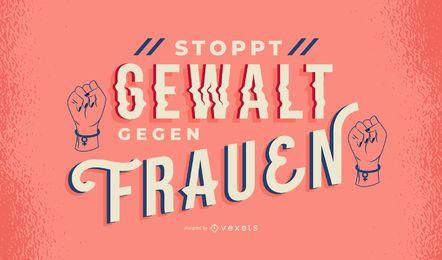 Frauentag Deutscher Schriftzug