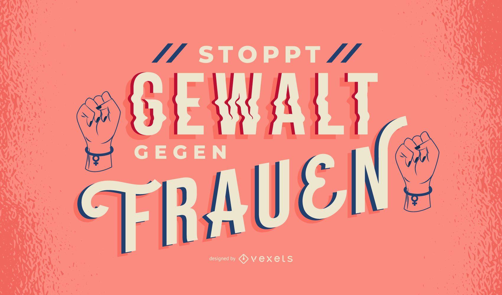 Women's Day German Lettering