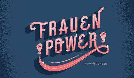 Women Power German Quote Design